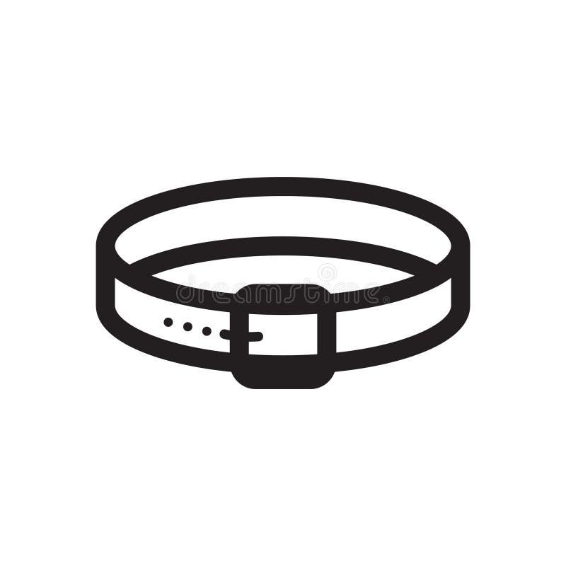 Linha fina ícone da coleira de cão ilustração do vetor
