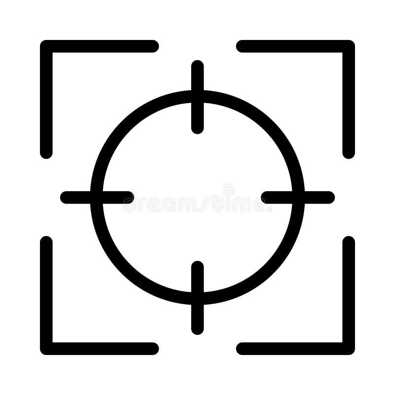 Linha fina ícone do foco ilustração stock