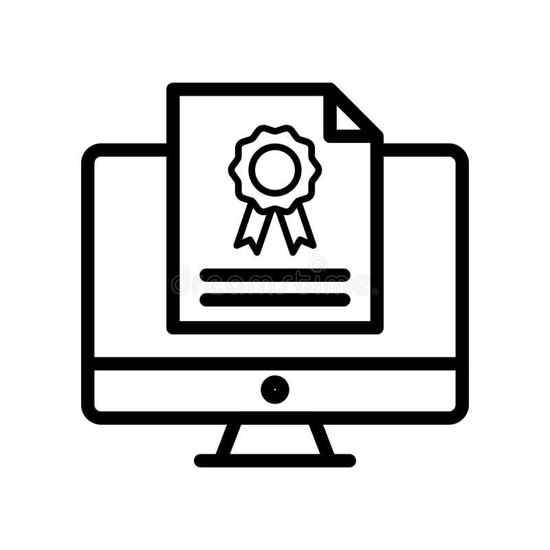 Linha fina ícone do grau do vetor ilustração do vetor
