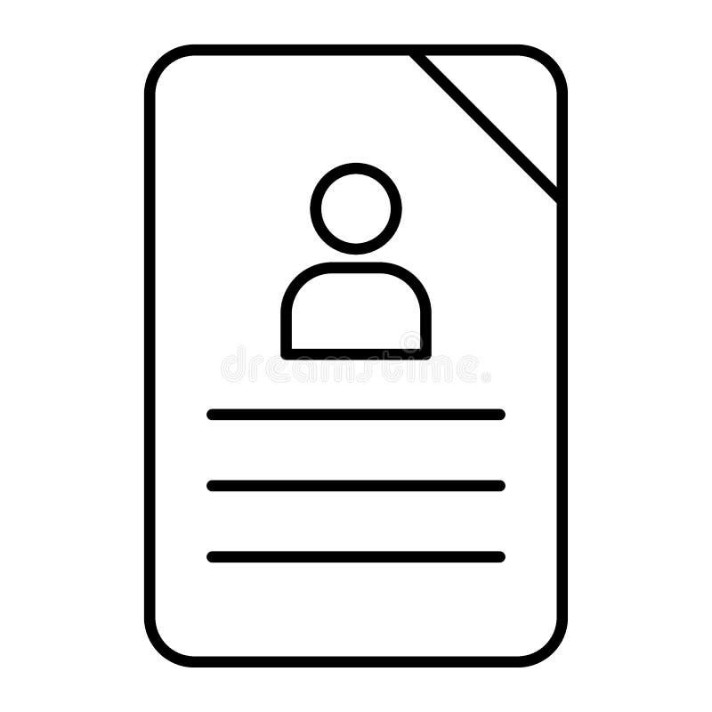 Linha fina ícone do questionário Ilustração do vetor do original isolada no branco Projeto do estilo do esboço do gráfico do form ilustração royalty free