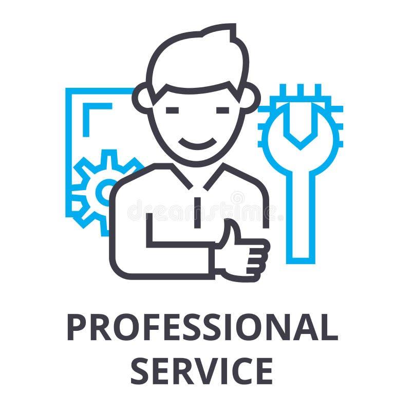 Linha fina ícone do serviço profissional, sinal, símbolo, illustation, conceito linear, vetor ilustração royalty free