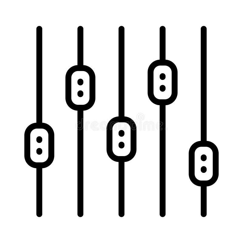 Linha fina ícone do slider ilustração stock