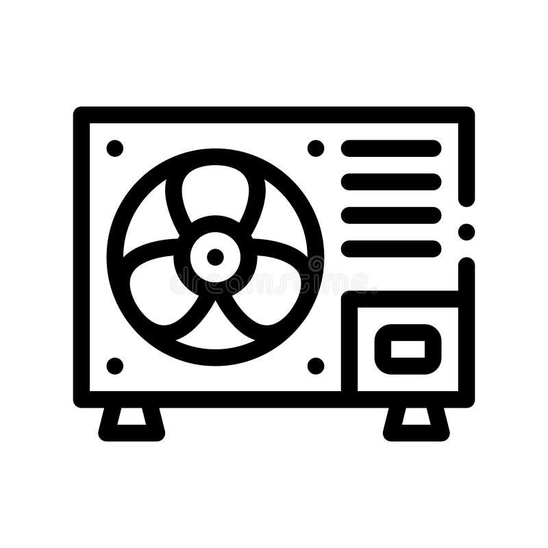Linha fina ícone do vetor novo fixo do sistema do condicionador ilustração royalty free
