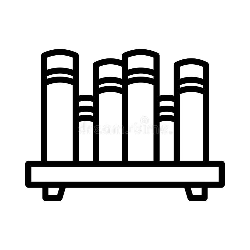 Linha fina ícone dos livros do vetor ilustração stock