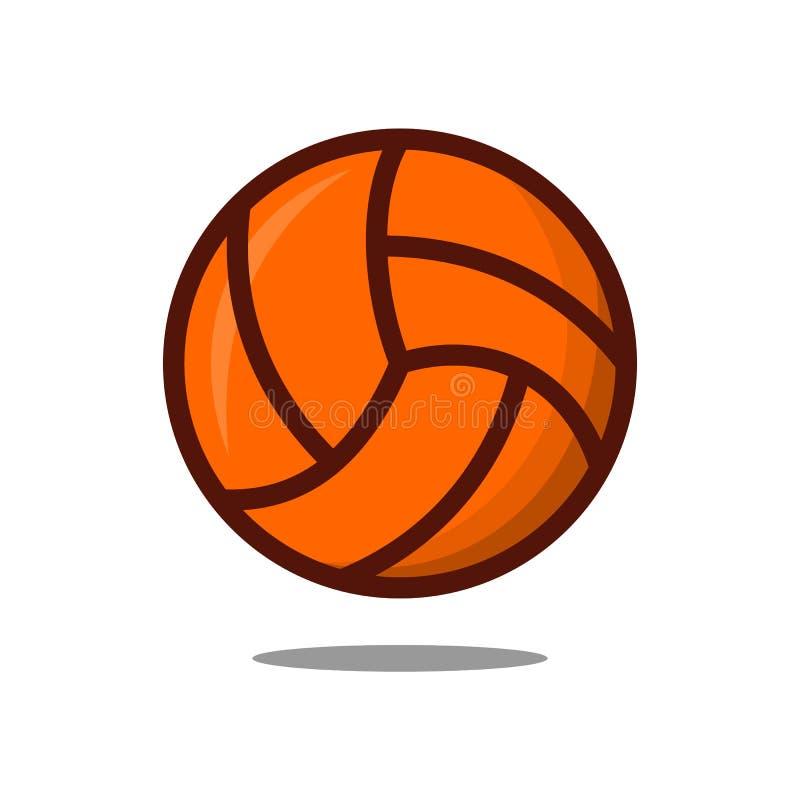 Linha fina ?cone da bola do voleibol ilustração stock