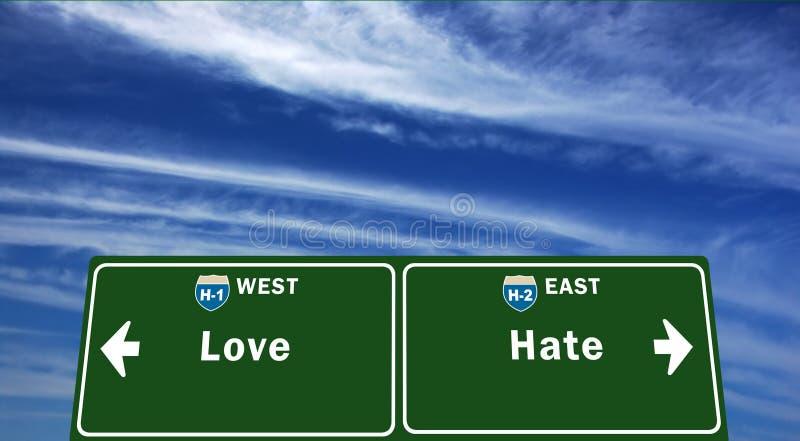 Linha fina entre o amor e o ódio imagens de stock