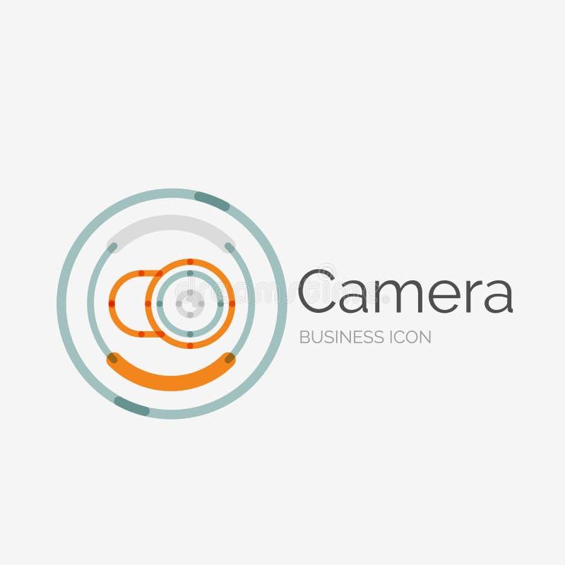 Linha fina logotipo puro do projeto, conceito da câmera ilustração royalty free
