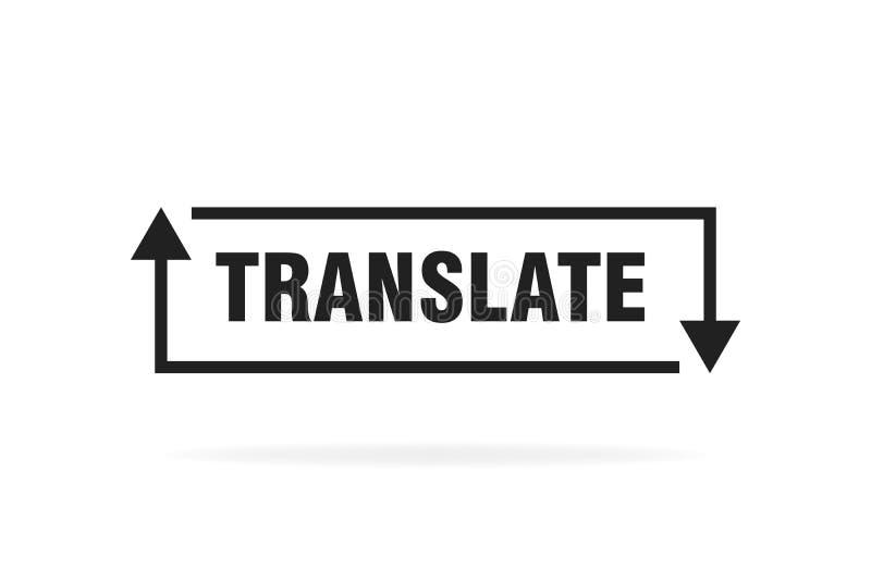 Linha fina simples conceito do logotipo do tradutor isolado no fundo branco Ilustra??o do vetor ilustração do vetor