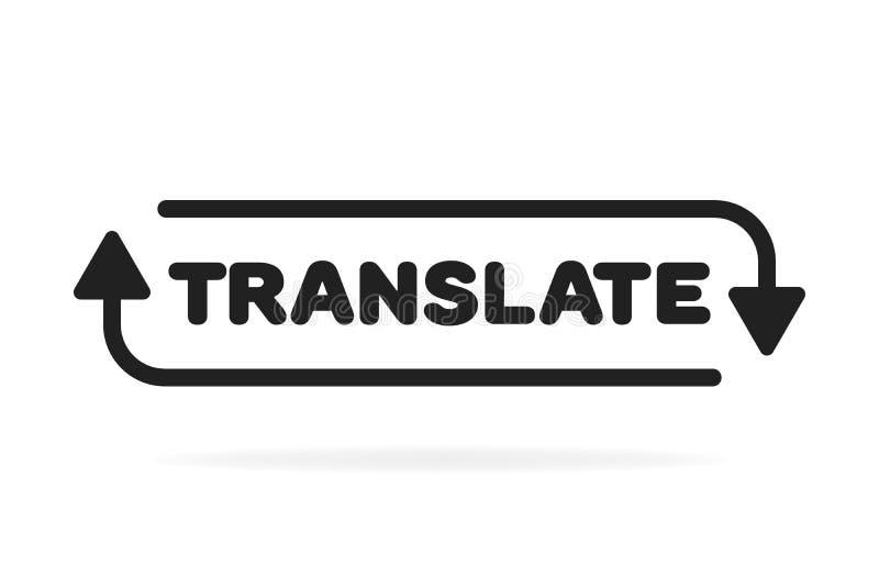 Linha fina simples conceito do logotipo do tradutor isolado no fundo branco Ilustra??o do vetor ilustração royalty free