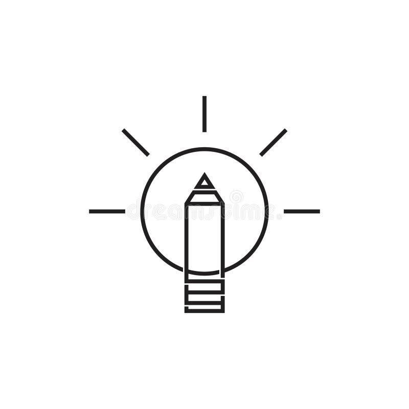 Linha Fina Vetor Do Bulbo Simples Do Símbolo Da Ideia Do