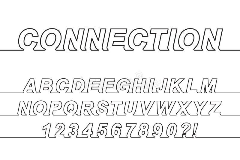 Linha fonte da conexão uma ilustração stock