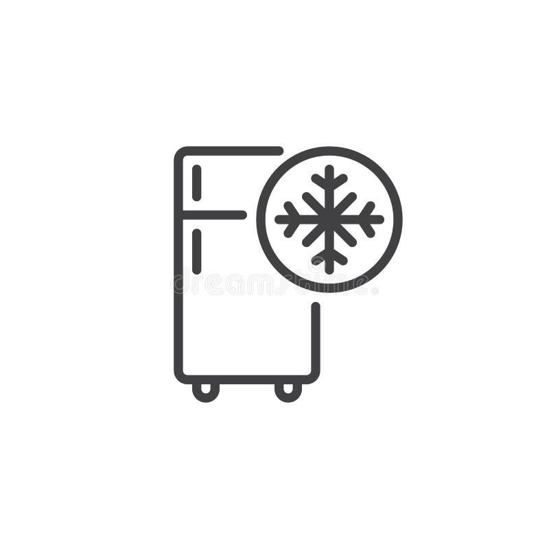 Linha fria ícone do congelador ilustração royalty free