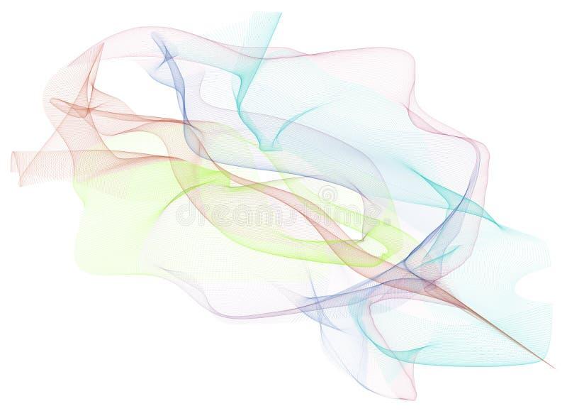 Linha fumarento abstrata fundo das ilustrações da arte Gráfico, efeito, cor & estilo fotografia de stock royalty free