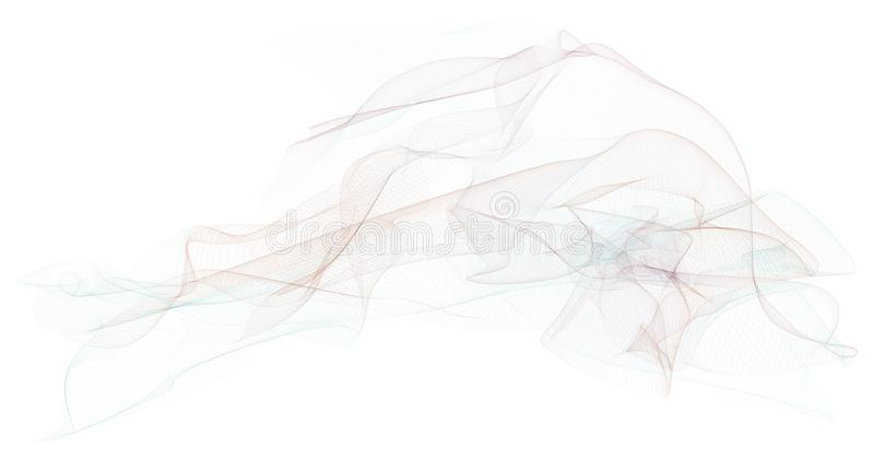 Linha fumarento abstrata fundo das ilustrações da arte Projeto, forma, curva & molde imagens de stock royalty free