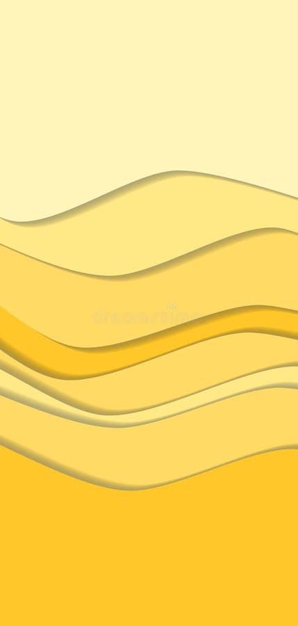 Linha fundo da onda da curva da areia ilustração do vetor