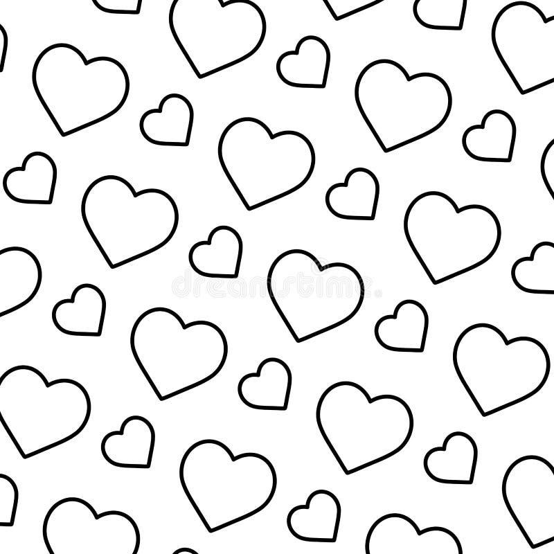 Linha fundo do símbolo do amor do coração da beleza ilustração royalty free
