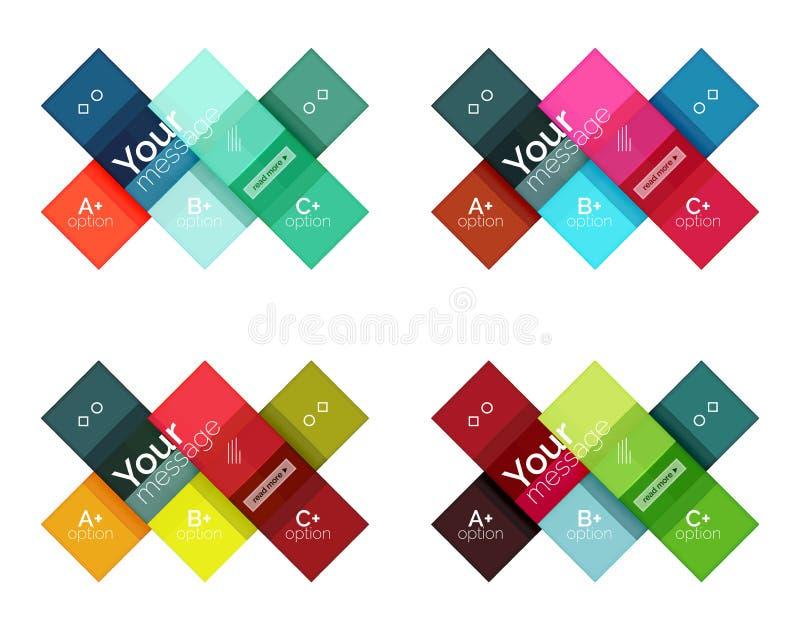 Linha geométrica abstrata moldes infographic ilustração stock