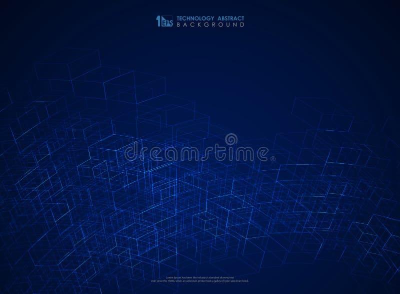 Linha geom?trica azul fundo futurista do sum?rio da malha da estrutura Vetor eps10 da ilustra??o ilustração do vetor