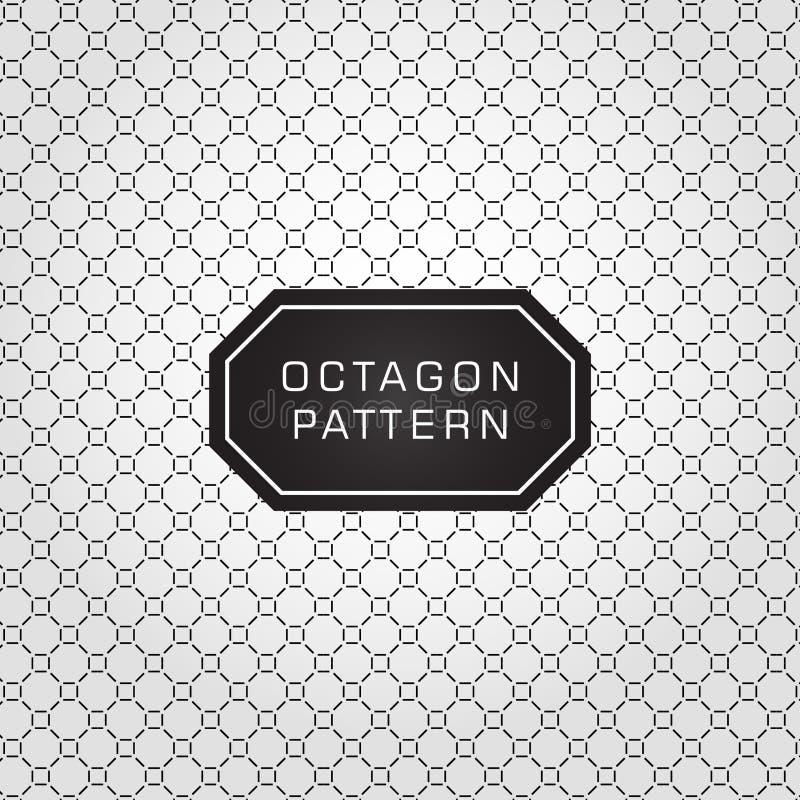 Linha geométrica expansível fundo do octógono do teste padrão e vetor da textura ilustração royalty free