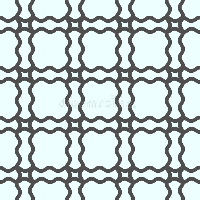 Linha geométrica sem emenda teste padrão no estilo árabe Repetindo a textura linear para o papel de parede, empacotando, bandeira ilustração royalty free