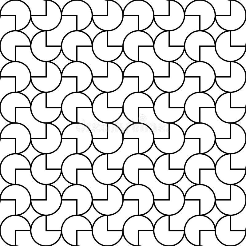 Linha geométrica vetor do teste padrão foto de stock