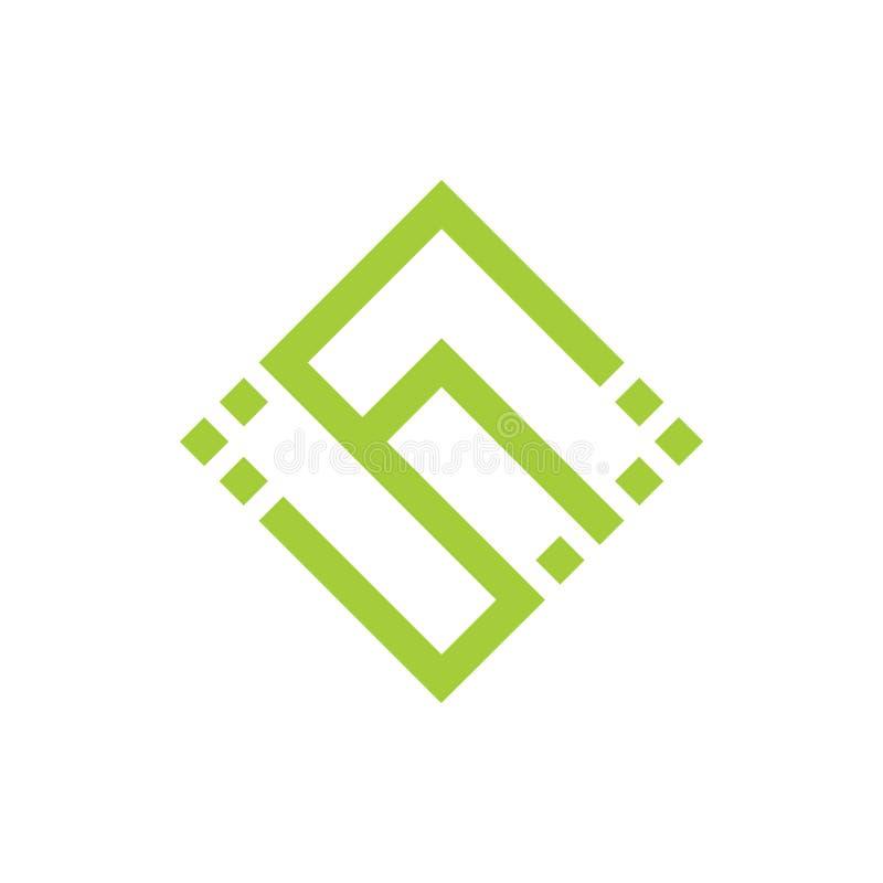 Linha geom?trica vetor dos pontos abstratos do Cs das letras do logotipo ilustração royalty free