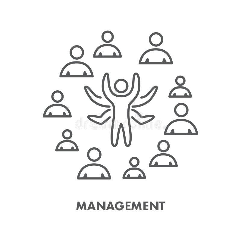 Linha gestão bem sucedida do ícone Símbolo do negócio do vetor ilustração royalty free