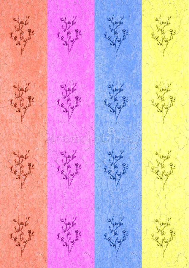 Linha gráfica teste padrão de flores monocromático em um fundo branco, ilustração bonita da arte alimento do vegetariano do fruto ilustração royalty free