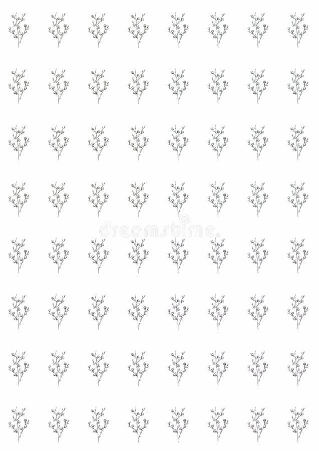 Linha gráfica teste padrão de flores monocromático em um fundo branco, ilustração bonita da arte alimento do vegetariano do fruto ilustração stock