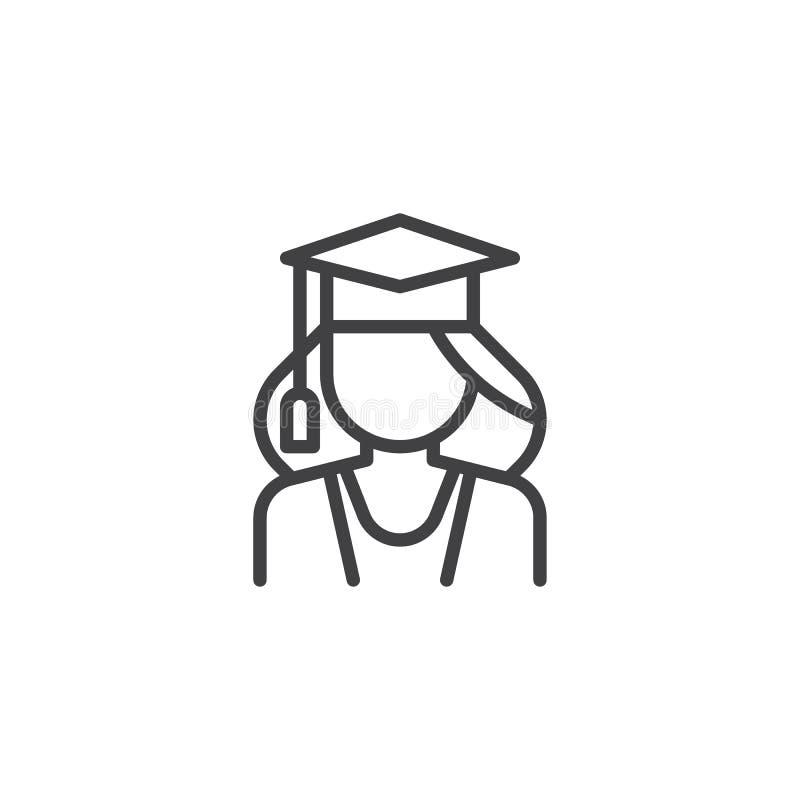 Linha graduada ícone da senhora ilustração do vetor