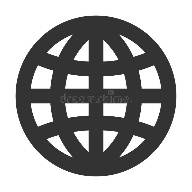 Linha grossa ícone do globo ilustração do vetor