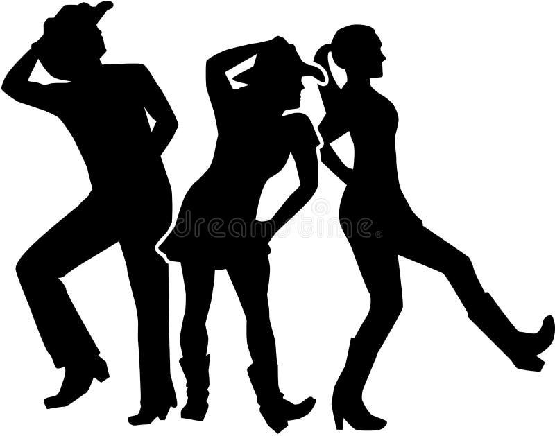 Linha grupo da dança ilustração stock