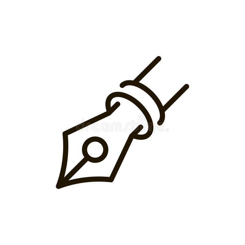 Linha lisa ícone ilustração do vetor