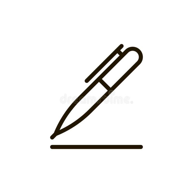 Linha lisa ícone ilustração stock