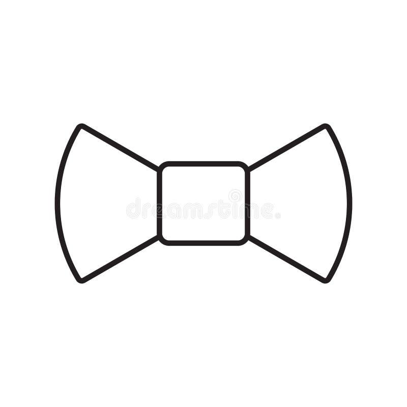 Linha lisa logotipo do ícone do laço simples do vetor do curso ilustração do vetor