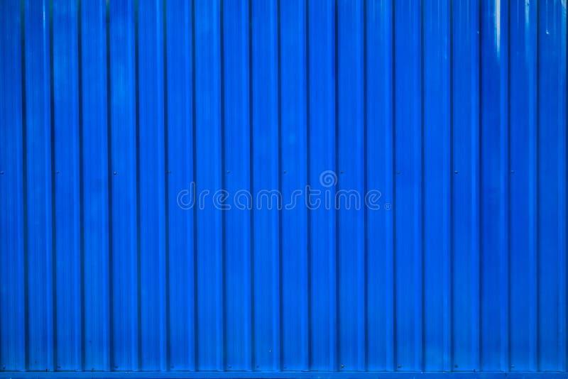 Linha listrada fundo do recipiente da caixa azul foto de stock royalty free