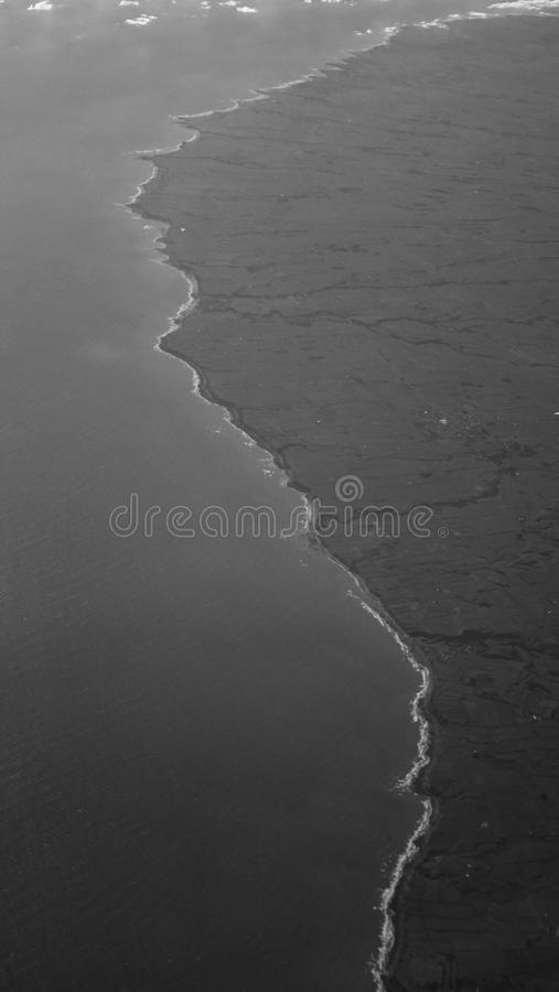 Linha litoral fotografia de stock