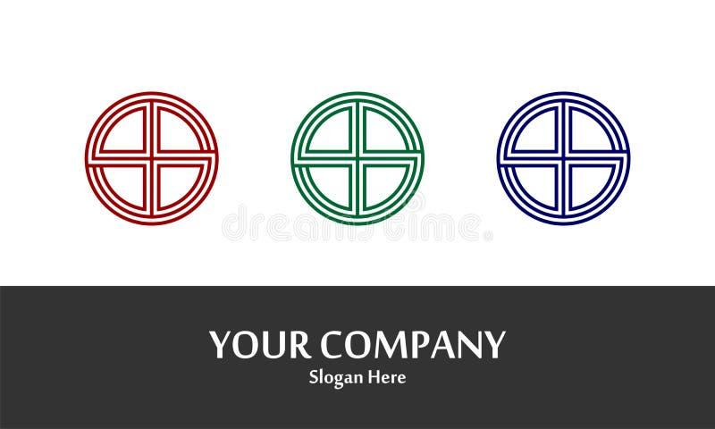 Linha Logo Vetora do círculo fotografia de stock
