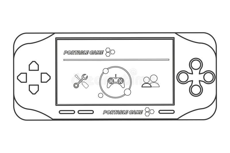 linha móvel projeto do ícone do jogo de vídeo ilustração do vetor