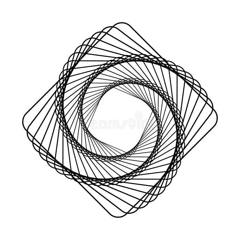 Linha moderna ilustração da arte com linha logotipo da arte Gráfico linear Logotipo abstrato da tecnologia Arte na moda Série fin ilustração royalty free