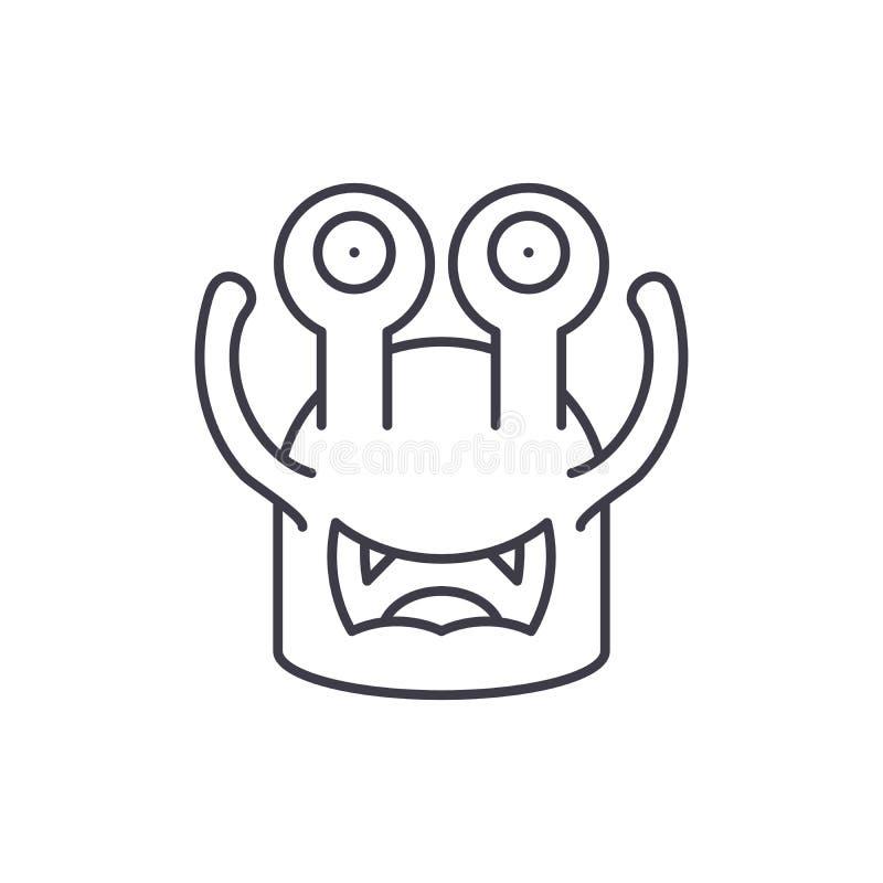 Linha moldada Toothy conceito do ícone Ilustração linear moldada Toothy do vetor, símbolo, sinal ilustração do vetor