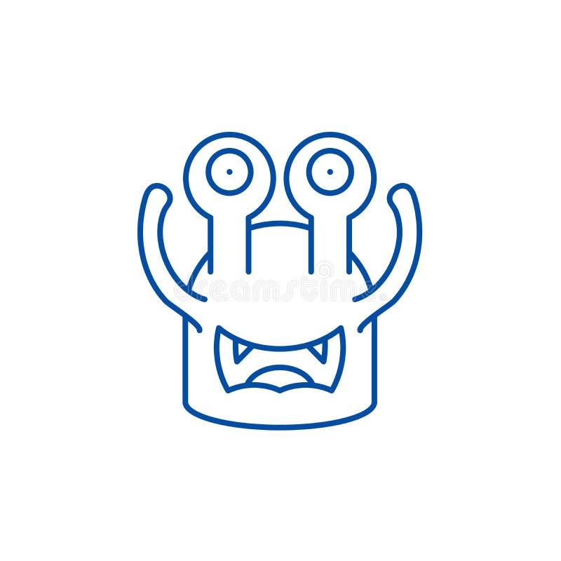 Linha moldada Toothy conceito do ?cone Símbolo liso do vetor do molde Toothy, sinal, ilustração do esboço ilustração do vetor