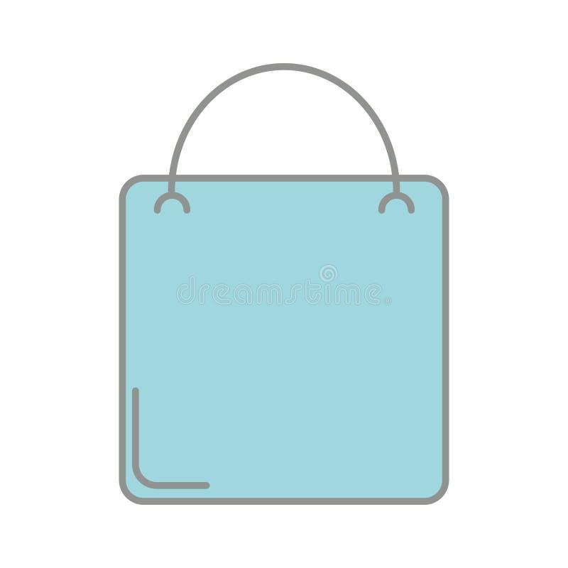 Linha negócio do mercado do saco de compras da cor a comprar ilustração do vetor
