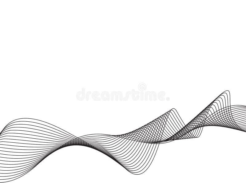 Linha ondas do vetor da arte ilustração stock
