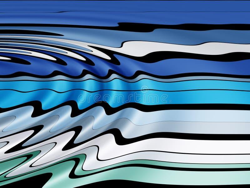 Linha ondulada teste padrão ilustração stock
