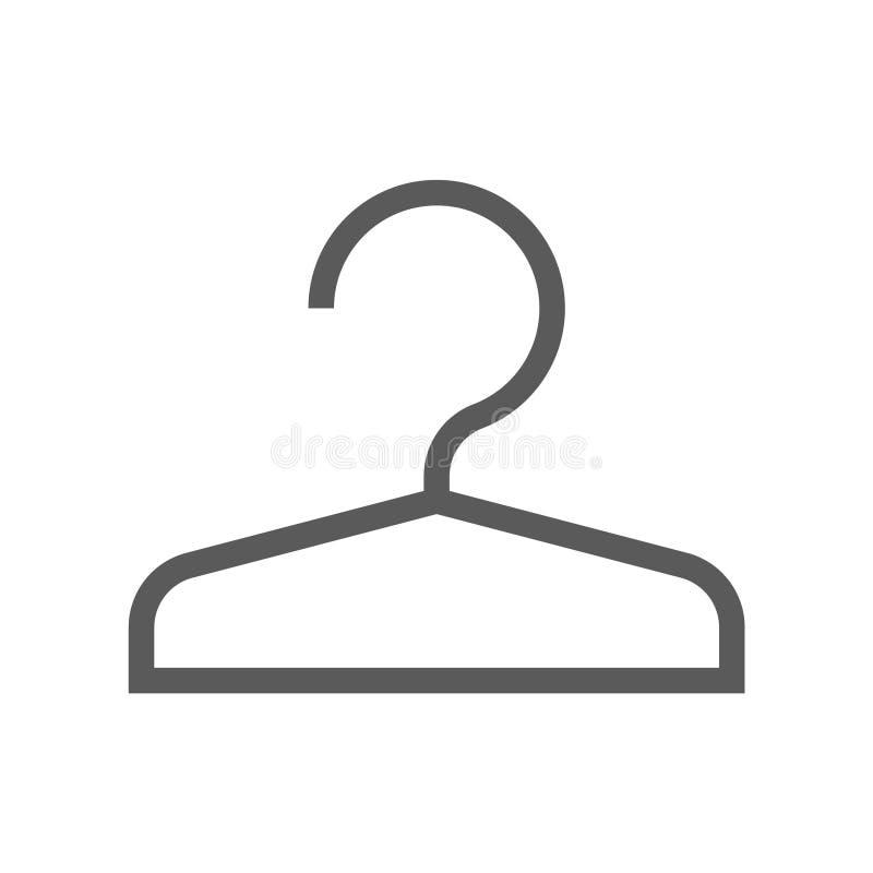Linha pública ícone do vetor da navegação cloakroom Curso editável pixel 48x48 perfeito ilustração royalty free
