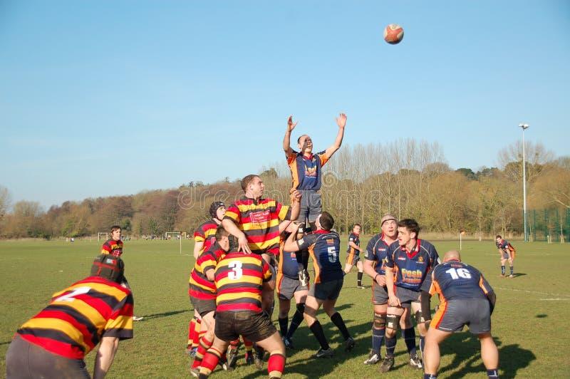 Linha-Para fora do rugby foto de stock royalty free