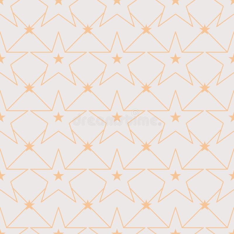 Linha para fora teste padrão sem emenda da estrela da simetria ilustração do vetor