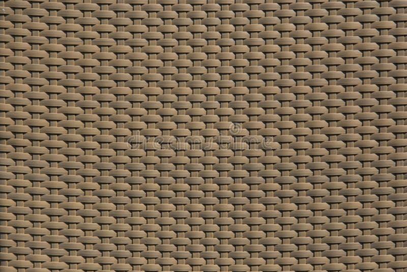 Linha plástica rattan do teste padrão para a textura da mobília imagem de stock