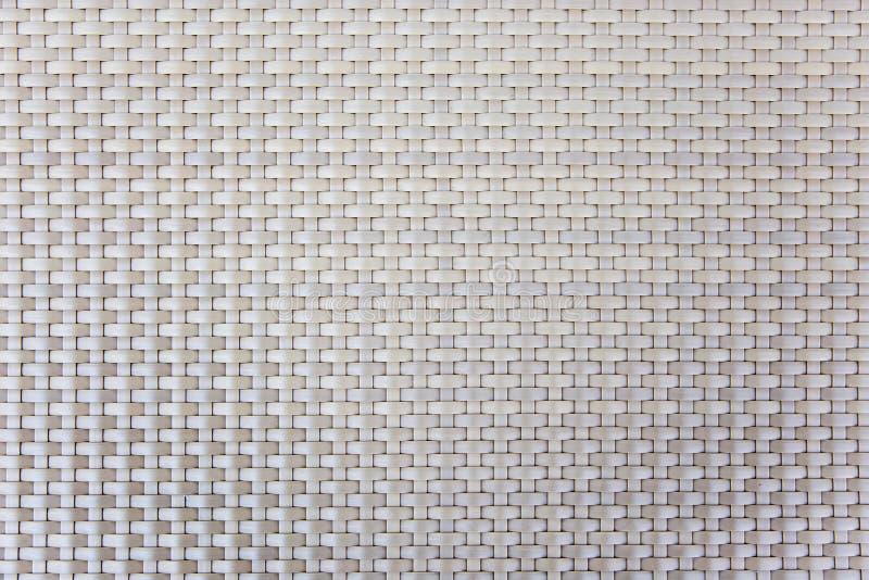 Linha plástica rattan do teste padrão para a textura da mobília fotos de stock royalty free